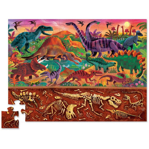 ABOVE & BELOW DINOSAUR WORLD PUZZLE 48 PCS