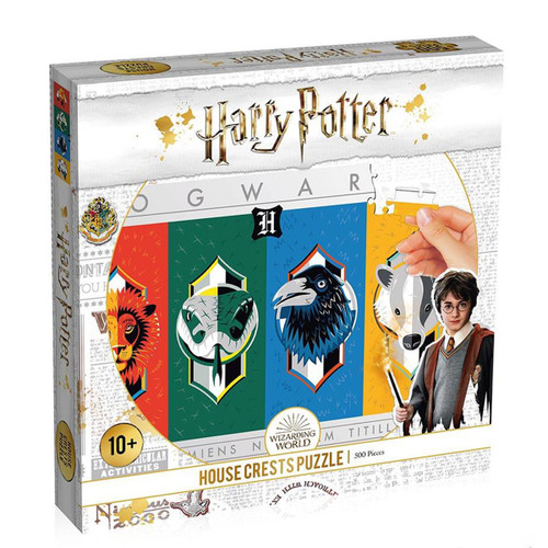 HARRY POTTER CRESTS PUZZLE 500PC