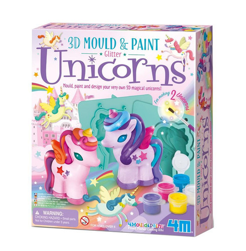 3D MOULD & PAINT GLITTER UNICORNS