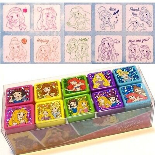 DISNEY PRINCESS 10 STAMPS SET ASST