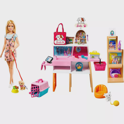 BARBIE DOLL AND PET STORE PLAYSET