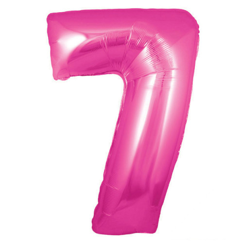 NUMBER 7 PINK 34 INCHES