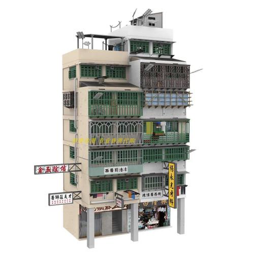 TINY CITY BD19 KOWLOON WALLED CITY BUILDING DIORAMA