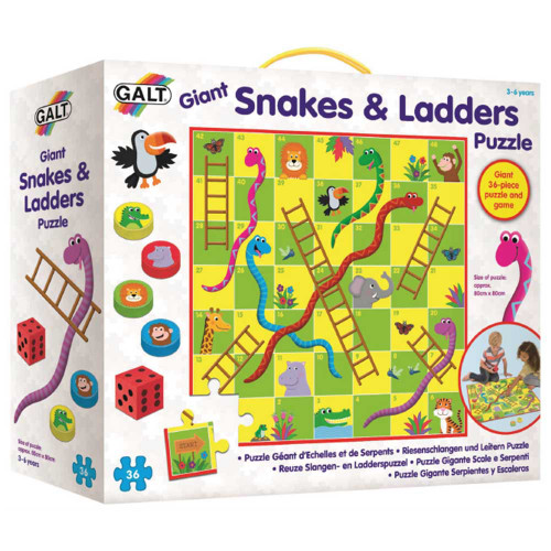 GIANT SNAKES & LADDERS PUZZLE