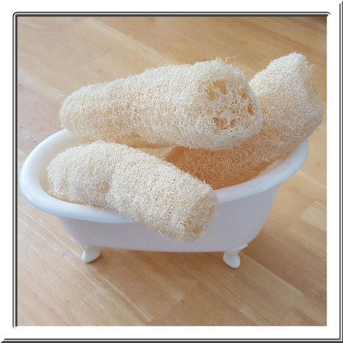 Locally sourced natural loofahs