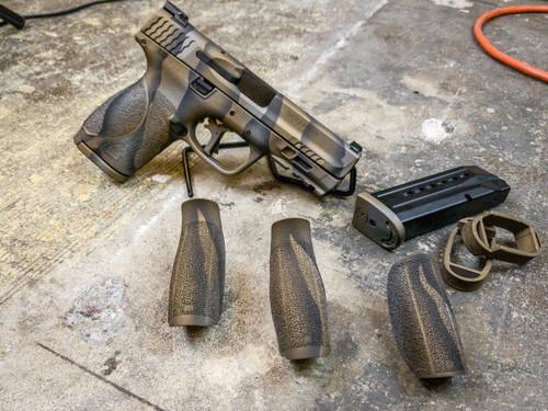 Cerakote Tiger stripe camo - bronze complete pistol