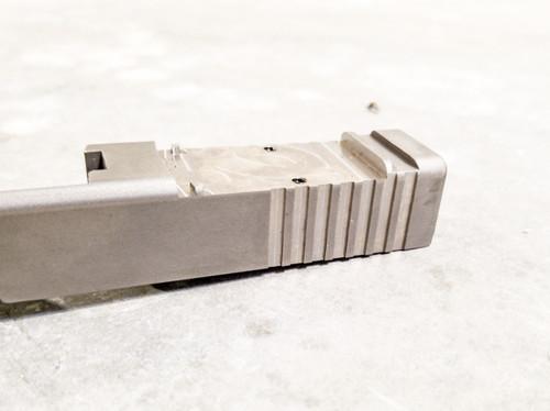 Rear serrations for Glock blank slides