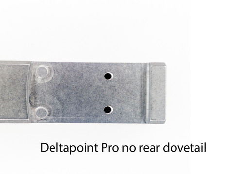 Optic cut on customer provided Glock slide
