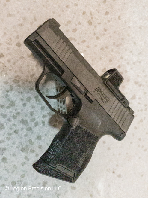 Optic cut on customer provided Sig P365 slide