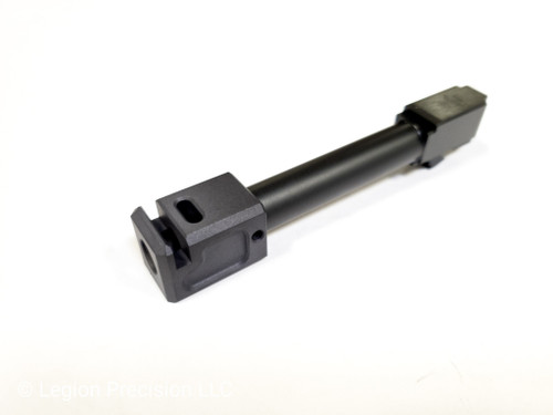 Legion Precision 9mm compensator and Legion Precision Basic B threaded barrel combo Glock 19 Gen 3-5