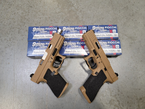 Glock 17 Gen 3 and Glock 19 Gen 3 Cerakote Troy coyote tan NEW