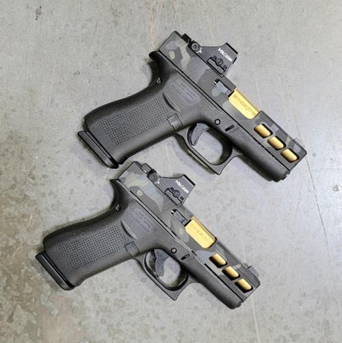 Complete Glock 43X with Multicam cerakote includes Holosun 507K