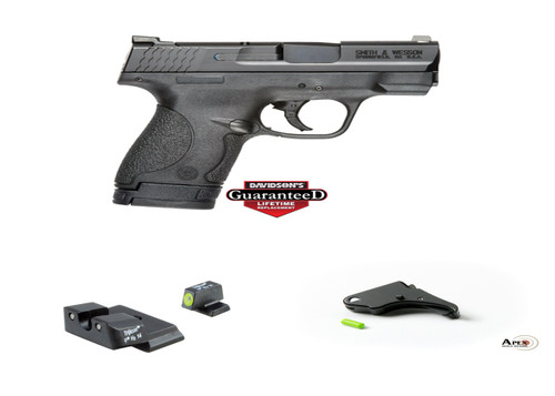Smith & Wesson MP Shield package with Trijicon HD Sights Apex Trigger