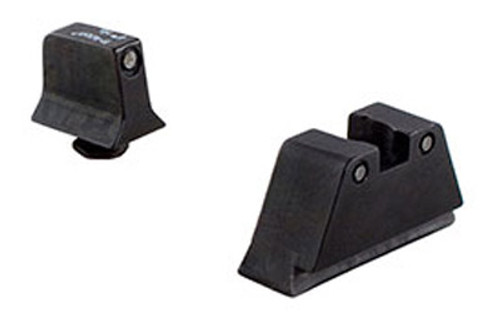 Trijicon, Bright & Tough, Sight, Suppressor Set, Fits Glock 17,17L,19,22,23,24,25,26,27,28,31,32,33,34,35,37,38,39, Black Front/Black Rear with Green Lamps