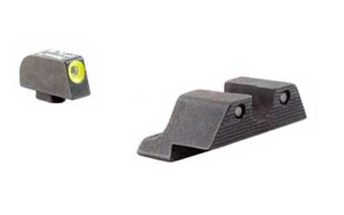 Trijicon, HD Tritium Night Sights, Fits Glock, Yellow Outline