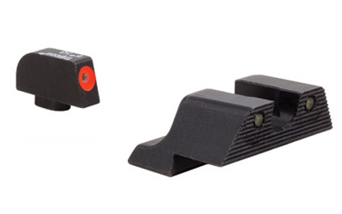 Trijicon, HD XR Night Sight Set, 3 Dot Green Tritium With Orange Front Outline, Fits Glock 17/19/26/27/33/34