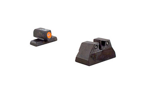 Trijicon, HD Night Sights, Fits H&K USP Compact, Orange Front, 3 Dot Green Tritium