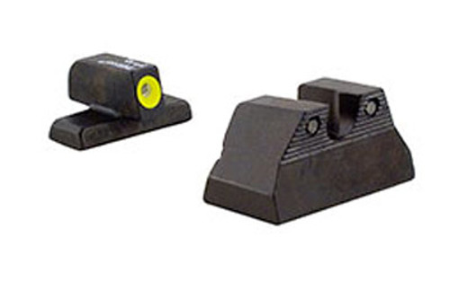 Trijicon, HD Night Sights, Fits H&K USP Compact, Yellow Front, 3 Dot Green Tritium