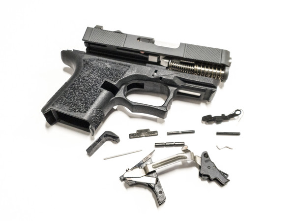 Legion Precision Dimpled Slide with Trijicon RMR optic cut Poly 80 complete Kit  with 80% frame