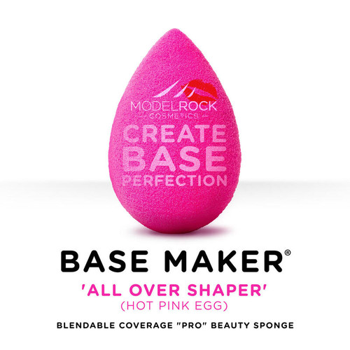 Base Maker® - Single Sponge -'ALL OVER SHAPER' Hot Pink Egg
