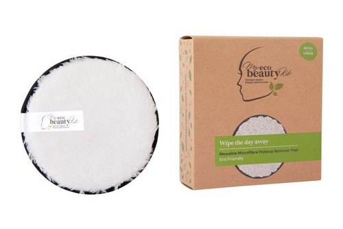 MY ECO BEAUTY KIT - RE-USEABLE MAKEUP REMOVER PAD - 'WHITE' Microfibre 1pk