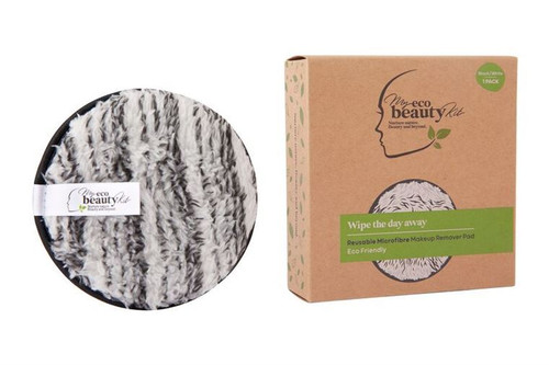 MY ECO BEAUTY KIT - RE-USEABLE MAKEUP REMOVER PAD - 'BLACK & WHITE Marble' Microfibre 1pk