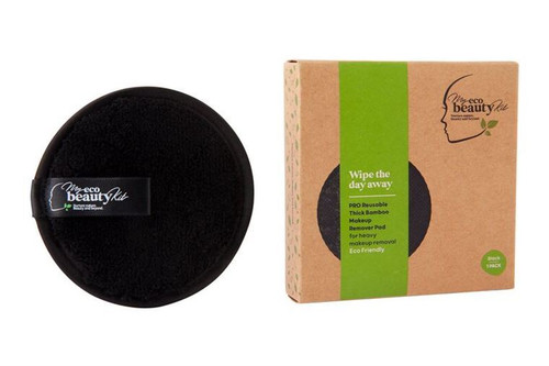 MY ECO BEAUTY KIT - 'PRO' RE-USABLE 'THICK BAMBOO' MAKEUP REMOVER PAD - For 'Heavy Makeup Removal' - 'BLACK 1pk'