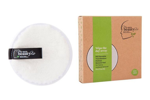 MY ECO BEAUTY KIT - 'PRO' RE-USABLE 'THICK BAMBOO' MAKEUP REMOVER PAD - For 'Heavy Makeup Removal' - 'WHITE 1pk'