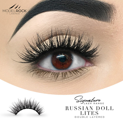 """Russian Doll """"Lites"""" - Double Layered Lashes"""