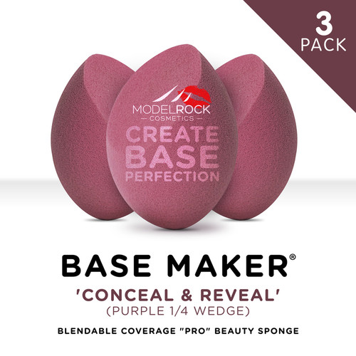 PRO 3PK - Base Maker® - CONCEAL & REVEAL Purple 1/4 Wedge