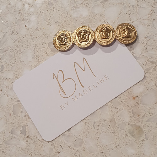 Gold Coin Barette Clip - By Madeline