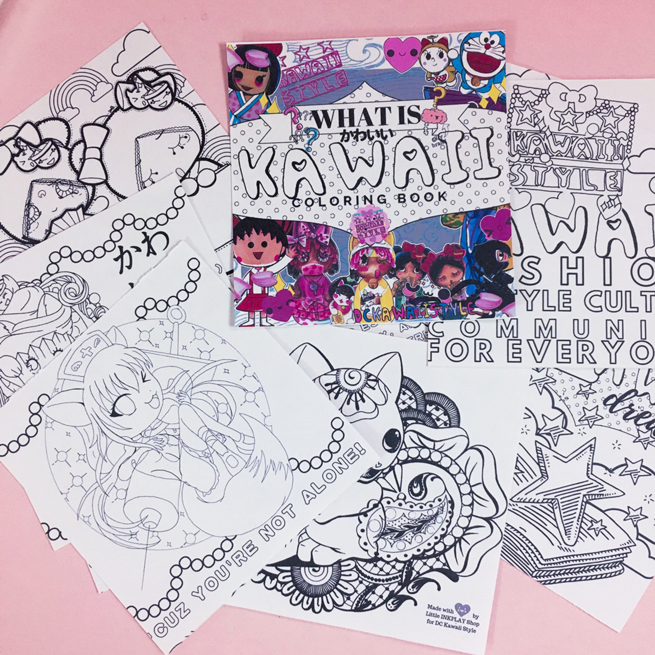 WHAT IS KAWAII Coloring Book