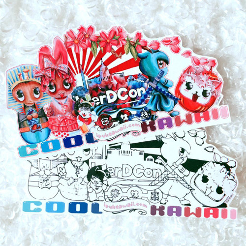 Sticker Pack #7 | BlerDCon 'Cool Kawaii' Pack