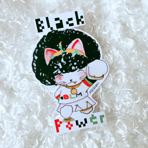 'Black Power'  Ippie-chan Sticker