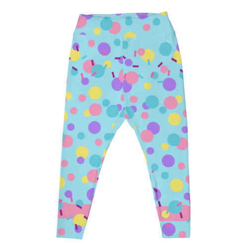"""PARTY KEI"" Plus Size Leggings"