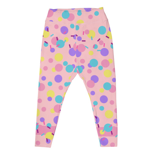 """PINK PARTY KEI"" Plus Size Leggings"