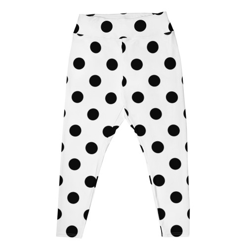 Black Polka Dot Plus Size Leggings