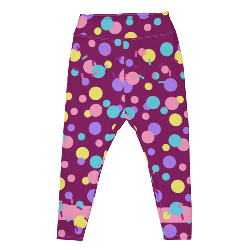 """PURP PARTY KEI"" Plus Size Leggings"