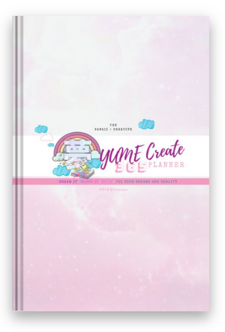 YUME CREATE 365 PLANNER - Dream Creative Planner - Cute 365 Days Month/ Week/ Day Planner