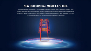 Smok RPM80 RGC Conical Mesh Coil 0.17ohm 5pk
