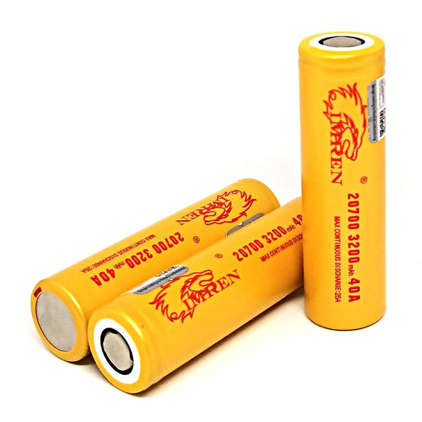 Imren 20700 battery (3200mah/ 40a) (Gold) 2pc