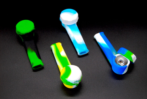 Silicone Metal Hand Pipe