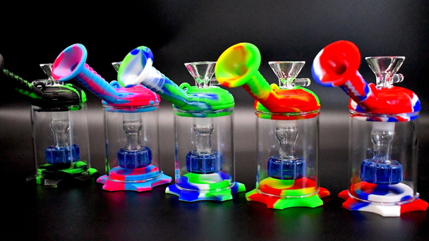 Silicone Glass Water Bubbler