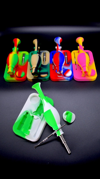 Silicone Nectar Collector with Stand