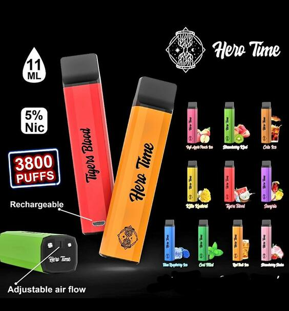 HERO Time Rechargeable Disposable 3800 Puffs