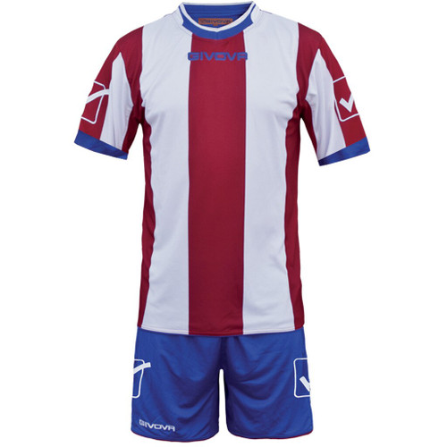 Catalano Football Kit in white, burgundy  and royal blue