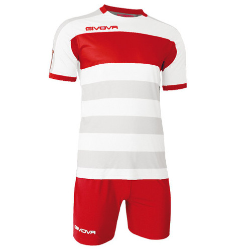 Derby Football Kit White and Red