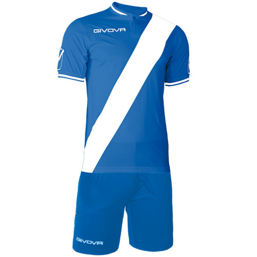 Plate Football Kit Azure Blue and White