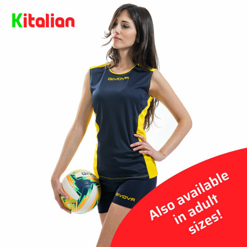 Givova Volleyball Piper Kit Navy and Yellow