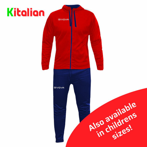 Tuta Sorrento Tracksuit Red and Navy